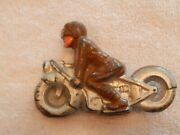 Vintage Barclay Lead Toy Motorcycle Soldier. 1930s All Original 3.5 Long.
