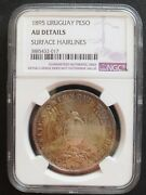 1895 Uruguay Peso , Ngc Au Details, Nice Silver Coin, 414, 20-2.
