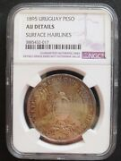 1895 Uruguay Peso Ngc Au Details Nice Silver Coin 414 20-2.