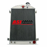 4 Row Aluminum Radiator For 1935-1936 Ford Model A 28 Stock Height Gm Chevy V8