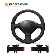 Mewant Black Suede Car Steering Wheel Cover For Honda S2000 Civic Si Acura Rsx