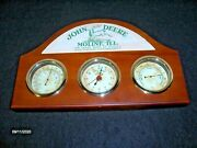 John Deere Wall Clock With Hygrometer And Thermometer