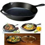 """Cast Iron Skillet 12"""" Lodge Pre Seasoned Frying Pan Cookware Cooking Field Grill"""