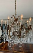Antique Vintage French Crystal Girandoles Chandelier Louis Xv Style 🌺 8 Light