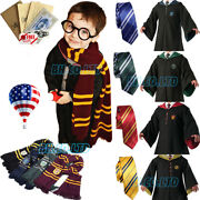Robe+tie+scarf Harry Potter Costume Robe Halloween Cosplay Party Xmas Gift