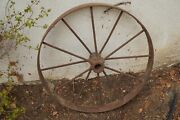 Antique Steel 30 2-wagon/tractor Wheels + Implement+ 2 Jacks Sold As A Lot