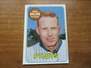 1969 Topps Rich Rollins 451 Seattle Pilots Rare White Letter Name High Grade