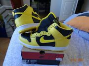 Rare 1999 Nike Dunk High Le 11us Goldenrod Ds Wu Tan Clan Vintage