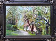 Painting Irish Cottage Oil On Canvas By Guy Foster 18x27