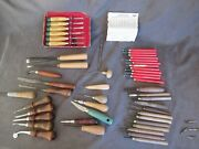 Vintage Woodworking Tools Mostly Chisels Millers Falls And Marples - 50 Pieces Dl