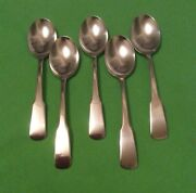 5 Vintage Beacon Hill Silver Plate Oval Soup Spoons,by International Silver Co.