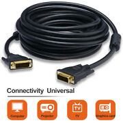 Dvi-d Dual Link 24+1 Pin Male To Male M/m Dvi Cable For Lcd Hdtv Computer Pc