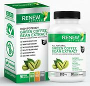 Renew Actives Coffee Bean Extract 800mg Green Coffee Bean Extract Capsules