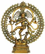 Large Size Antique Shiv Dancing Shiva As Nataraja With Om Aum Home Décor 24