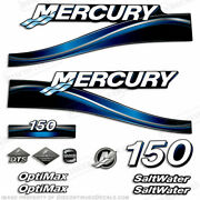 2005 Blue Mercury 150hp Saltwater Optimax Outboard Engine Decal Reproduction Kit