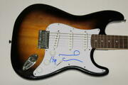 Noel And Liam Gallagher Signed Autograph Fender Brand Electric Guitar - Oasis