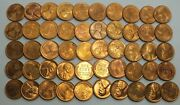 1944-s 1c Cent Lincoln Wheat Full Roll 50 Coins +tube Uncirculated Lg250