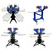 All Kinds Of Screen Printing Machine With Stand4/6/8 Color Press Machine New