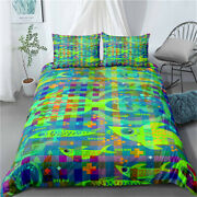 Twin/full/queen/king Bed Duvet/quilt Cover Set Duvet Cover Fish Worm Tree Green