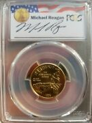 1995-w Reagan Legacy Olympic Stadium Commemorative Gold Coin Pcgs Ms70 Pop Of 2