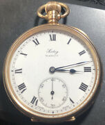 Antique 9ct Gold Cased Sorely Glasgowpocket Watch Working Xmas Giftface4.9cm
