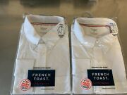 Wholesale Qty 72 French Toast School Uniform White Long Sleeve Oxford Size L
