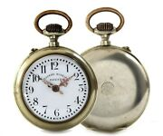 Systemk Roskopf Patent Collectible Stainless Steel Pocket Watch Detailed Hands