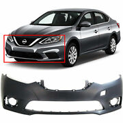 Primed Front Bumper Cover Replacement For 2016-2019 Nissan Sentra 16-19