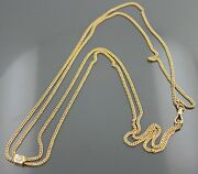Vintage 18k Yellow Gold Victorian Slide Necklace For Watch Or Chatelaine