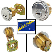 Mul-t-lock Junior Satin Chrome Rim/mortise Cylinder With 2 Keys And Card