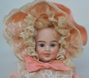 Carl Bergner- 3 Faces Bisque Doll -smiling Sleeping Crying- Pull String-1890-16