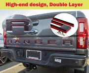 Double Layer Tailgate Insert Letters Fits 2019-2020 Ford Ranger Black Red
