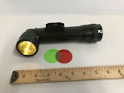 U.s. Army Fulton Tl-122 Flashlight - M13537 With Spare Red Lenses