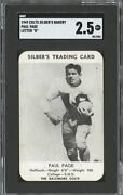 1949 Baltimore Colts Football Schedule Silberand039s Bakery Paul Page Sgc Graded
