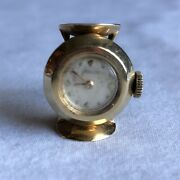 🔥jaeger-lecoultre🔥vintage Lecoultre Ring Watch In 14k Gold Antique   Size 7  