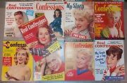 1953-62 Lot Of 9 Real Uncensored Confessions, My Real Story, Complete