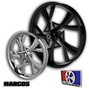 21x5.5 Inch Narcos Motorcycle Wheel Harley Road Street Glide King Fat Front