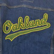 Leviand039s Oakland Aandrsquos Denim Mlb Jacket By Size S Small Rare Hard To Find Nwt