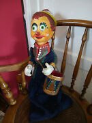 Vintage French 1950s / 1960s Large Marionette Hand Puppet Pinocchio Drummer Boy
