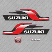 Suzuki Dt6 6hp Two Stroke Outboard Engine Decals Sticker Set Reproduction 6 Hp