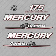 Mercury 175 Hp Optimax Outboard Engine Decals Sticker Set Reproduction 175hp