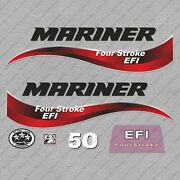 Mariner 50 Hp Four Stroke Efi Outboard Engine Decals Sticker Set Reproduction