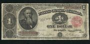 1891 United States Treasury 1 Note Red Seal | Scarce  -very Good- 959b