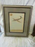 Double Signed Phyllis Diller Air Plane Painting Watercolor Sketch And 5 Photos