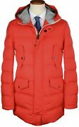 Nwt Kired By Kiton Parka Puffer Coat Reuss Red Goose Down Italy 52 Large 5495