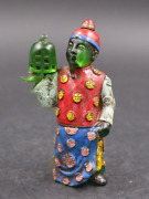 China Rare Old Coloured Glaze Qing Dynasty Officials Modeling Snuff Bottle