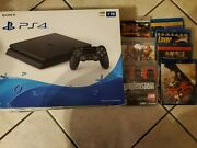 Sony Playstation 🎮 4 Slim 1tb Video Games Console Black And9 Games And 4 Blu Rays