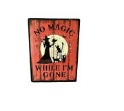 New Product Halloween Primitive Rustic Style Galvanized Metal Be Scary Cat Sign