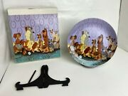 Walt Disney Classic Lady And The Tramp Collectible Porcelain Plate - Rare 6th