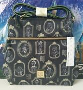 Nwt Disney Dooney And Bourke Haunted Mansion Portraits Black Nylon Letter Carrier